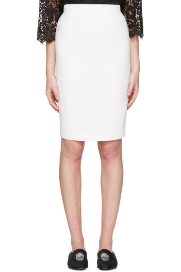 Alexander McQueen - Ivory Pencil Skirt