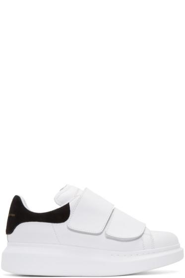 Alexander McQueen - White Leather Velcro Sneakers