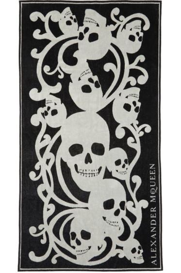 Alexander McQueen - Black & Beige Skull Towel