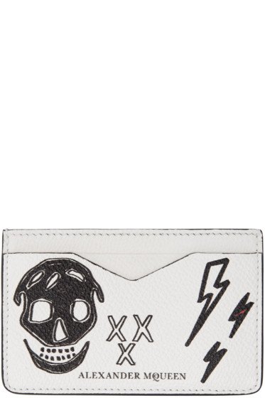 Alexander McQueen - White Leather Doodle Card Holder