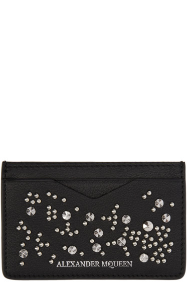 Alexander McQueen - Black Studded Card Holder