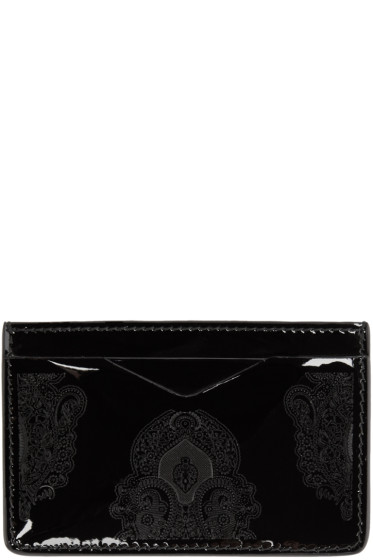 Alexander McQueen - Black Patent Print Card Holder