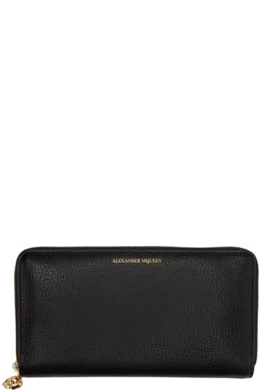 Alexander McQueen - Black Skull Zip Wallet