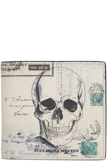 Alexander McQueen - White Letters From India Wallet