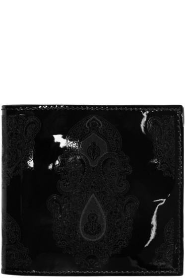 Alexander McQueen - Black Patent Print Wallet