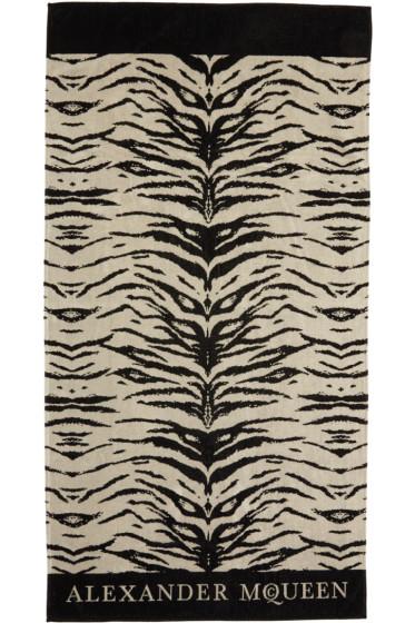 Alexander McQueen - Beige & Black Leopard Towel