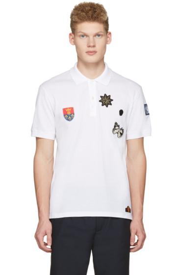 Alexander McQueen - White Badges Polo