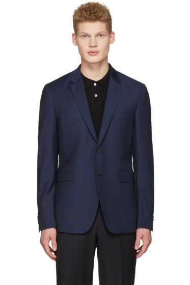 Paul Smith - Navy Wool Check Blazer