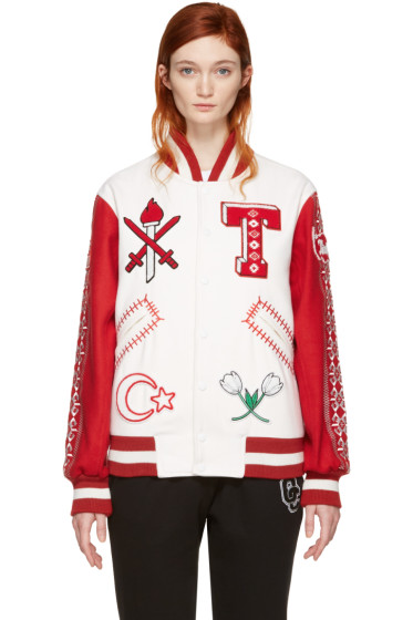 Opening Ceremony - White Turkey Global Varsity Jacket