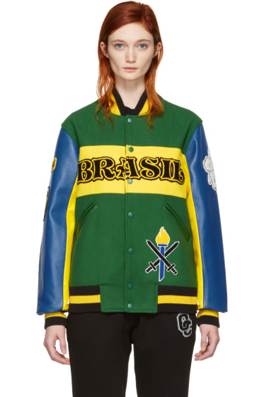 Opening Ceremony - Green Brazil Global Varsity Jacket