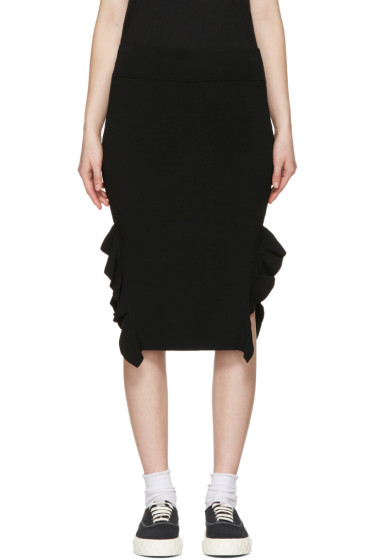 Opening Ceremony - Black Side Flounce Skirt