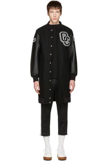 Opening Ceremony - Black Long Varsity Jacket