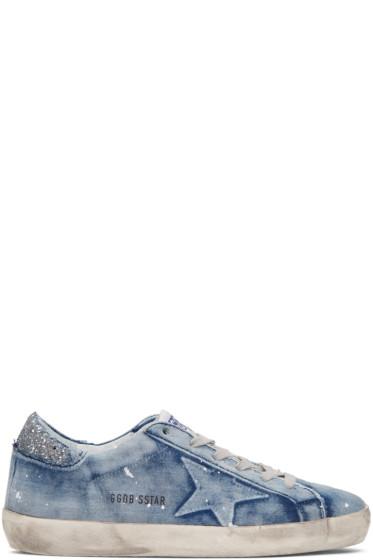 Golden Goose - Blue Denim Superstar Sneakers