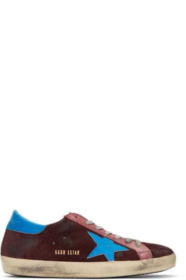 Golden Goose - Purple Suede Superstar Sneakers