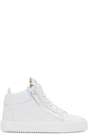 Giuseppe Zanotti - White London High-Top Sneakers