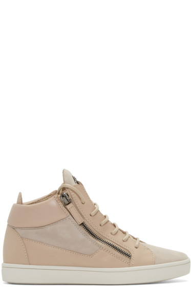 Giuseppe Zanotti - Pink London Mid-Top Sneakers