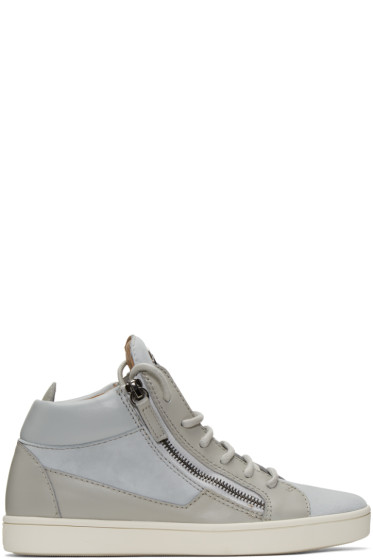 Giuseppe Zanotti - Grey Suede London High-Top Sneakers