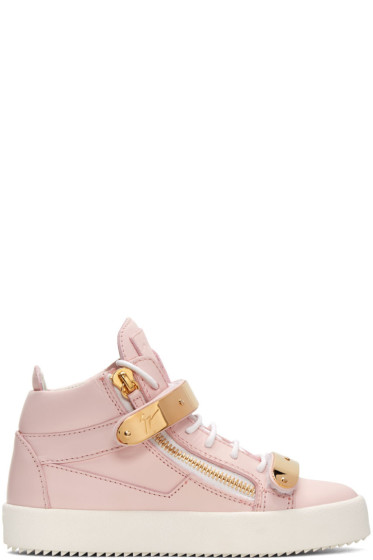 Giuseppe Zanotti - SSENSE Exclusive Pink London High-Top Sneakers