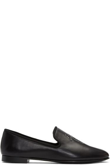 Giuseppe Zanotti - Black Logo Kevin Loafers