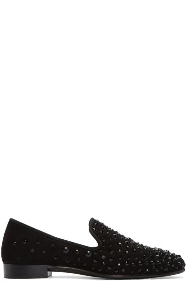 Giuseppe Zanotti - Black Studded Kevin Loafers