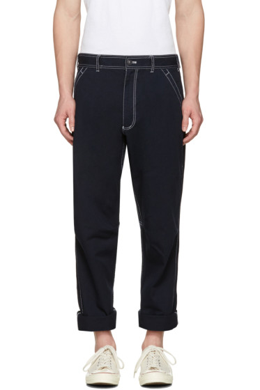 Comme des Garçons Shirt - Navy Workstitch Trousers