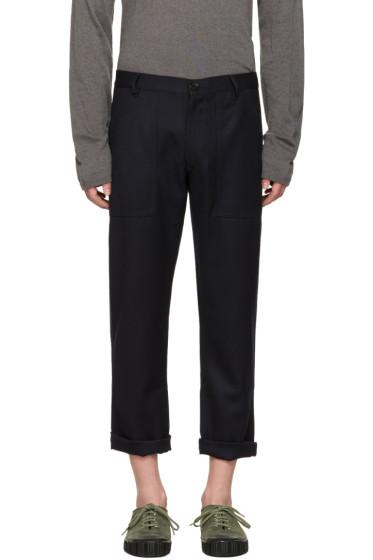 Comme des Garçons Shirt - Navy Wool Gabardine Trousers