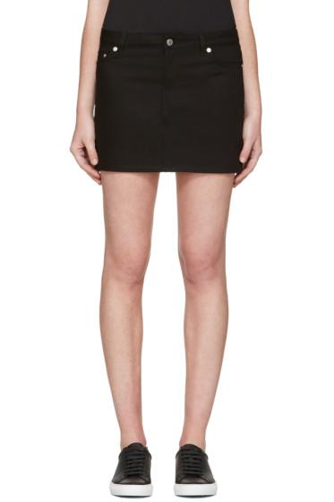 Givenchy - Black Denim Skirt
