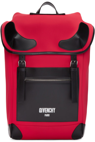 Givenchy - Red Neoprene Rider Backpack