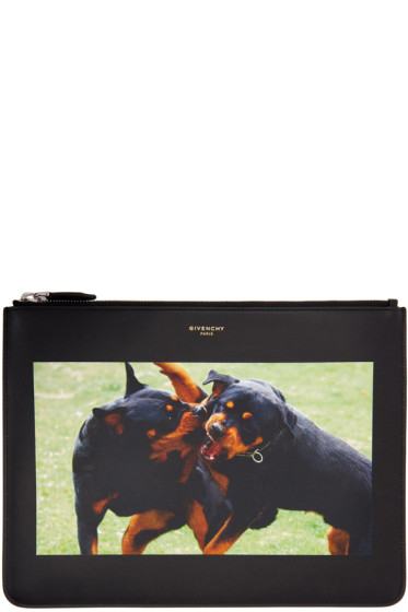 Givenchy - Black Rottweiler Pouch