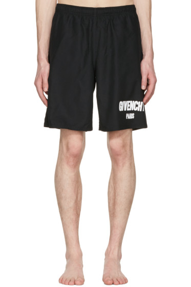 Givenchy - Black Logo Swim Shorts