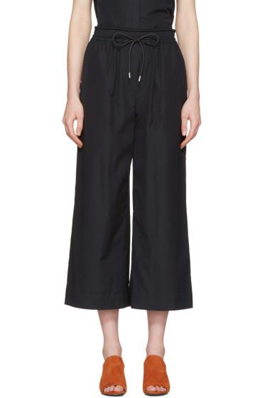 3.1 Phillip Lim - Blue Poplin Drawstring Trousers