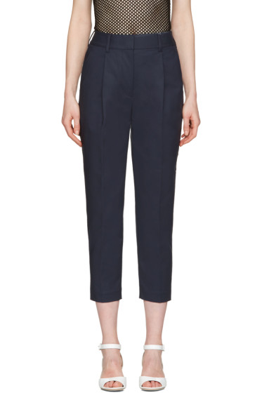 3.1 Phillip Lim - Navy Tailored Carrot Trousers