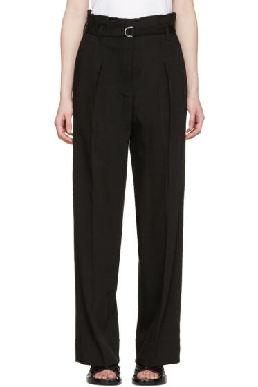 3.1 Phillip Lim - Black Paper Bag Waist Trousers