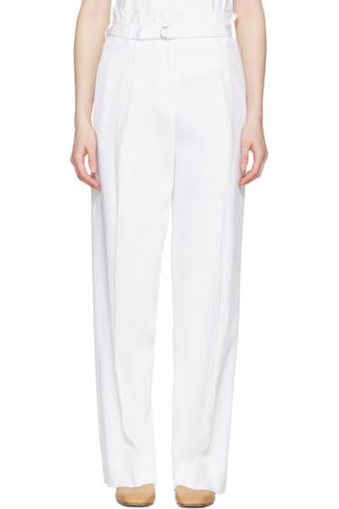 3.1 Phillip Lim - White Paper Bag Waist Trousers