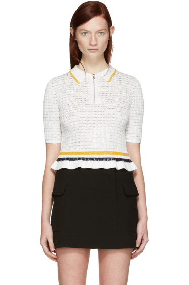 3.1 Phillip Lim - White Knit Polo