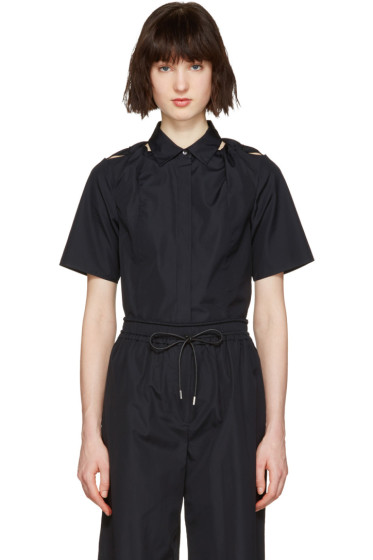 3.1 Phillip Lim - Navy Shoulder Knot Shirt