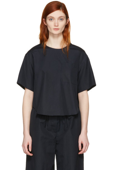 3.1 Phillip Lim - Blue Poplin Pocket Top