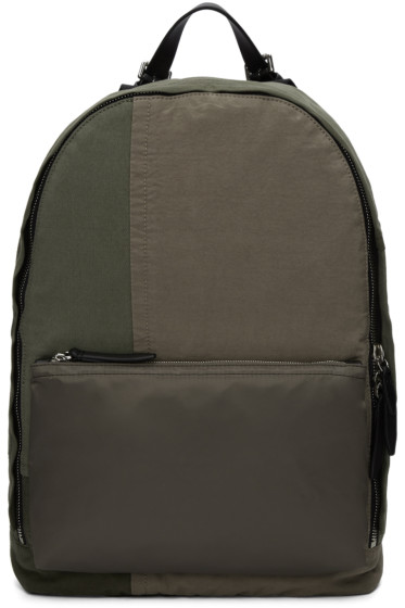 3.1 Phillip Lim - Green Patchwork 31 Hour Backpack
