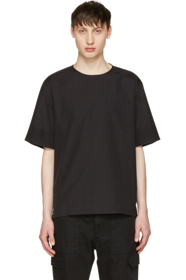 3.1 Phillip Lim - Black Poplin T-Shirt