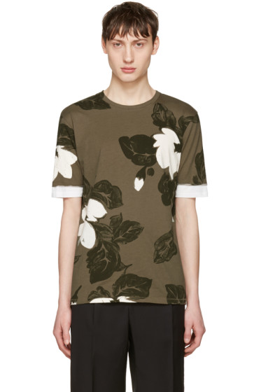 3.1 Phillip Lim - Green Floral T-Shirt
