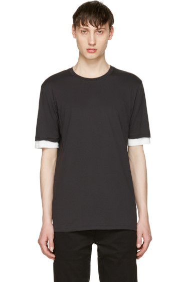 3.1 Phillip Lim - Black Double Sleeve T-Shirt