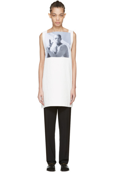 Raf Simons - White Robert Mapplethorpe Edition Dennis Speight Dress