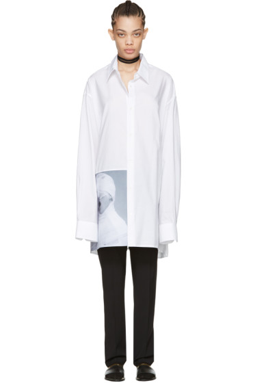 Raf Simons - White Robert Mapplethorpe Edition 'White Gauze' Shirt