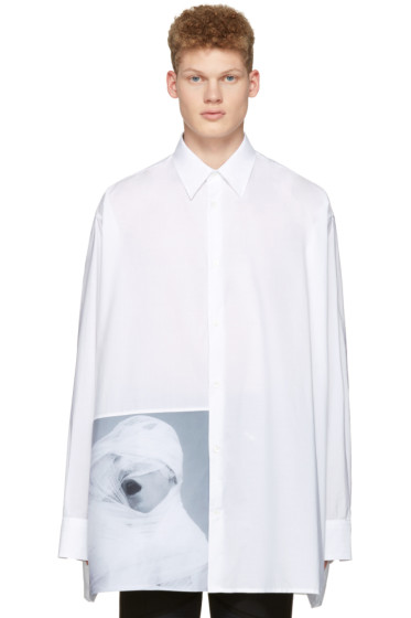 Raf Simons - White Robert Mapplethorpe Edition 'White Gauze' Oversized Shirt