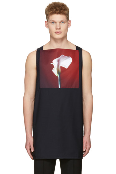 Raf Simons - Navy Robert Mapplethorpe Edition 'Calla Lily, 1998' Top
