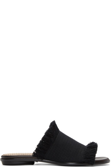 Proenza Schouler - Black Canvas Sandals