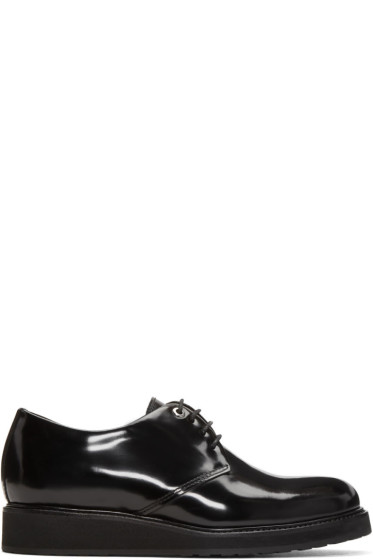 Want Les Essentiels - Black Patent Menara Wedge Derbys