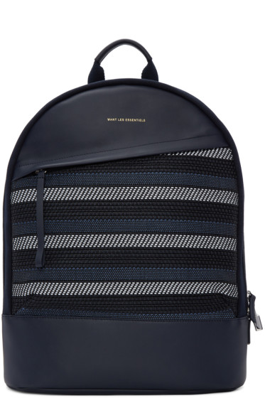Want Les Essentiels - Navy Canvas Kastrup Backpack