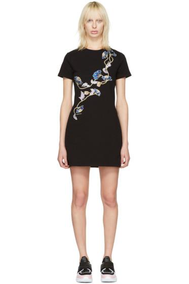 Carven - Black Floral Pullover Dress