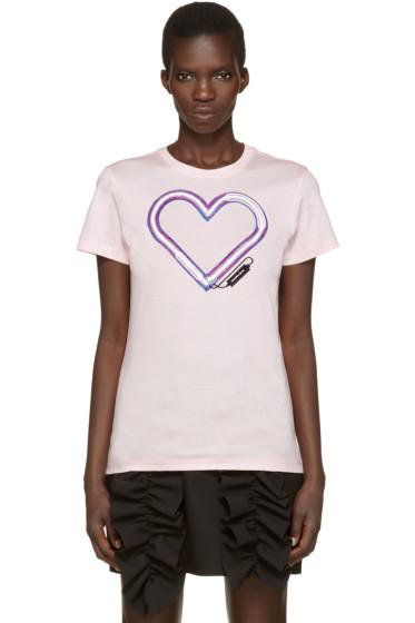 Carven - Pink Neon Heart T-Shirt